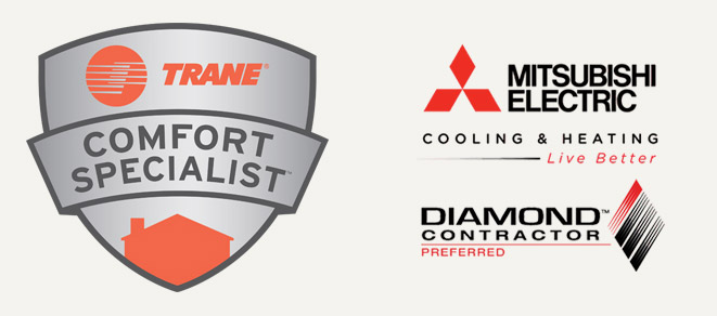 Trane Comfort Specialists and Mitsubisi